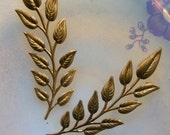 Delicate Brass Fronds (2 pc)