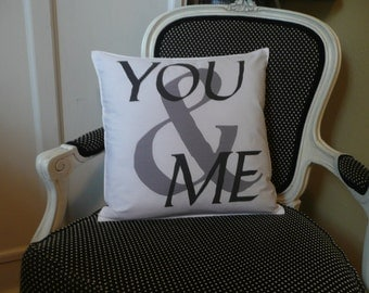 You and Me Pillow Cover
