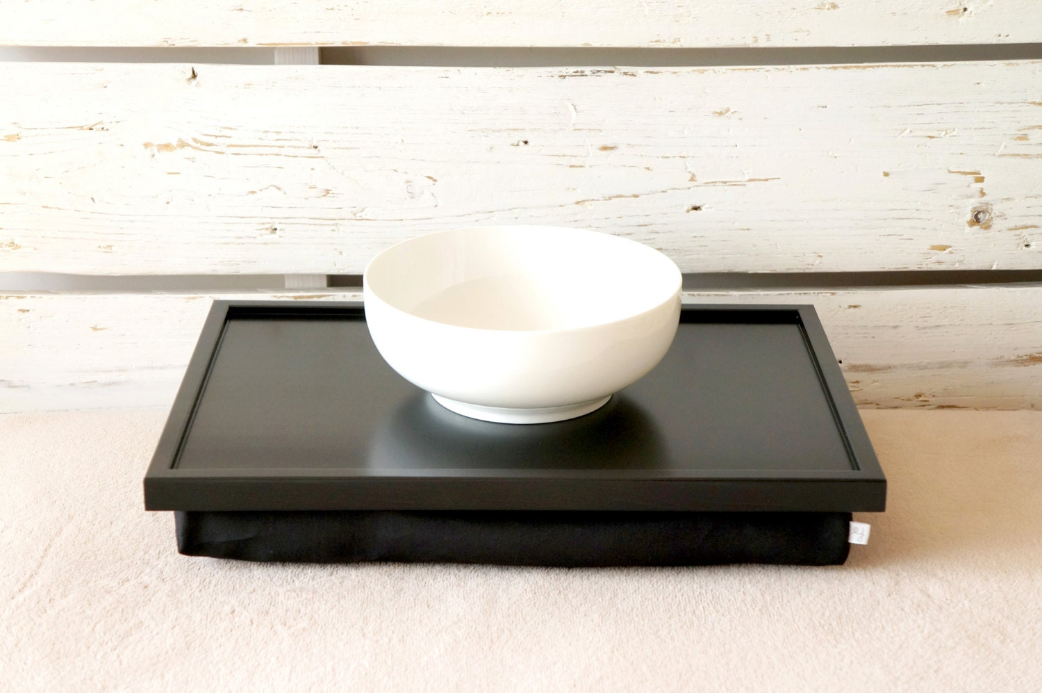 iPad desk with Pillow or Laptop Lap Desk Solid Black by