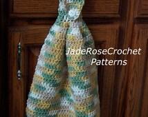 Crochet Dishtowel Pattern EcoFriendly Hanging Dishtowels PDF 504