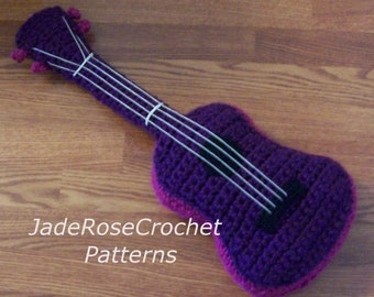 Crochet Pattern Concert Ukulele and Guitar Pillow Chunky Yarn Amigurumi PDF5300