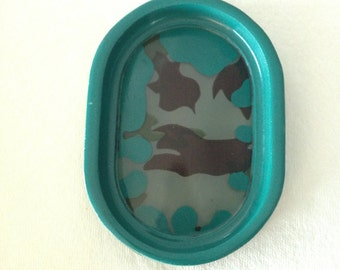 Green Resin Camouflage Soap Dish