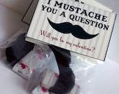 Mustache Valentine  Card Craft Digital Printable U PRINT - Instant download