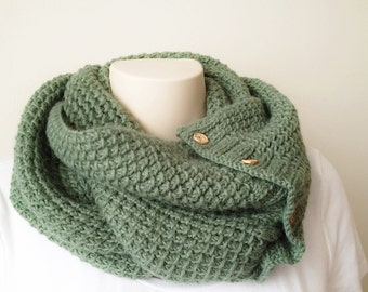 Free Knitting Patterns For Cowl Neck Scarves : COWL NECK INFINITY SCARF KNITTING PATTERN   KNITTING PATTERN