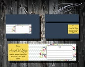 Printable Boho Flawers Wrap Around Address Label / Custom color / DIY Weddings / Digital Files / Address labels / Style 00110WAL