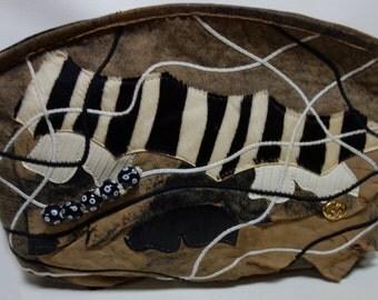 CARLO FIORI of Italy Patchwork Clutch Handbag