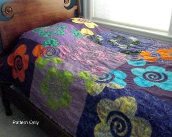 Hippie Flower Quilt Pattern