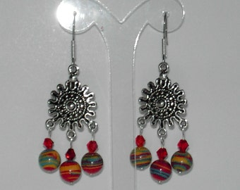 Multi color turquoise  earrings  (#365)