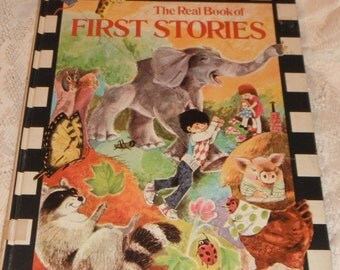 The Real Book of First Stories Illustrated by June Goldsborough Vintage Book 1973
