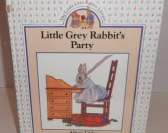 Little Grey Rabbits Party by Alison Uttley Vintage Book 1990