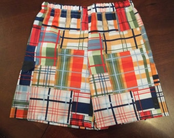 Madras Plaid - Toddler Boys or Girls - Sizes 12 months to 5T - Michael Miller Going Coastal