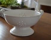 White Ceramic Colander