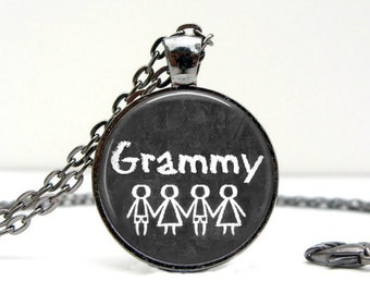 Personalized Jewelry: Grandmother Necklace. Gift for Her. Jewelry. Handmade. Necklace. Mother's Day. Pendant. Lizabettas