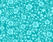SALE - Peggy Sue - Teal Tonal Floral by Ro Gregg from Paintbrush Studio