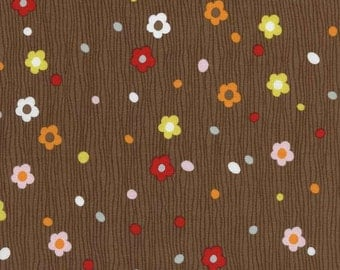 SALE - Matilda - Mocha Small Flower by Alice Kennedy from Timeless Treasures