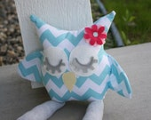 Chevy the owl, handmade plush toy owl/ pillow