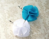 Teal Chiffon Hair Pin