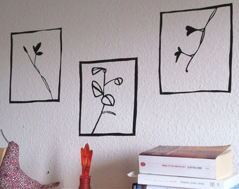 Wall Decal - Nature Triptych
