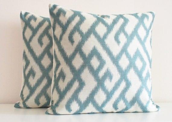 Modern Beach Pillows : Items similar to Blue Pillow, Aqua, Modern Pillow, Decorative Throw Pillows, Turquoise, Abstract ...