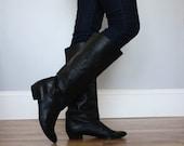 Vintage Black Leather Boots
