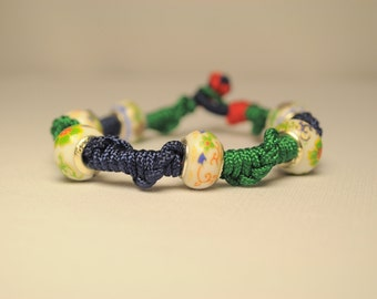 Friendship Bracelet with Porcelain beads