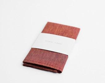 Red pocket square for men