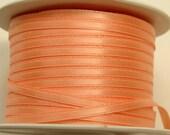 "1/8"" Satin Ribbon - Peach - Whole Spool - 100 yds"