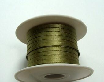 "1/8"" Satin Ribbon - Willow Green - Whole Spool - 100 yds"