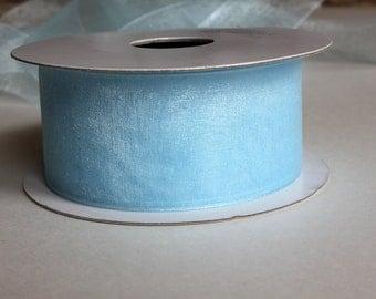 """1 1/2""""Organza Ribbon - 25 yard Spool - Light Blue"""