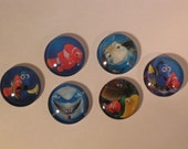 Disney Finding Nemo Glass Refrigerator Locker Message Board Magnets or Push Pins