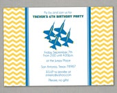 Jet Birthday Invitation -- Blue Angel