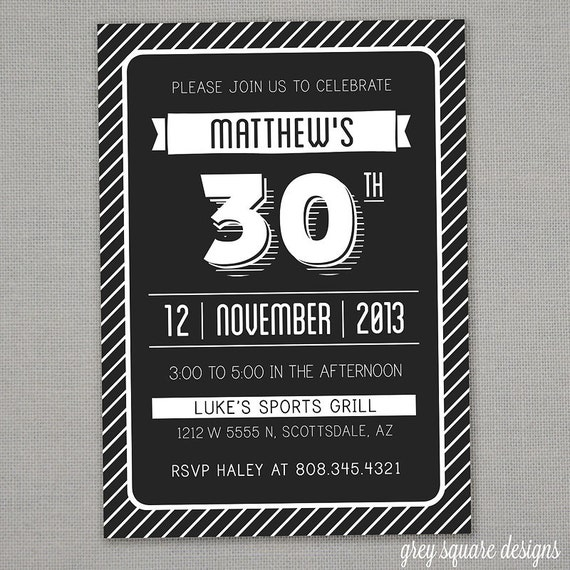 40 Birthday Invitations is awesome invitation example