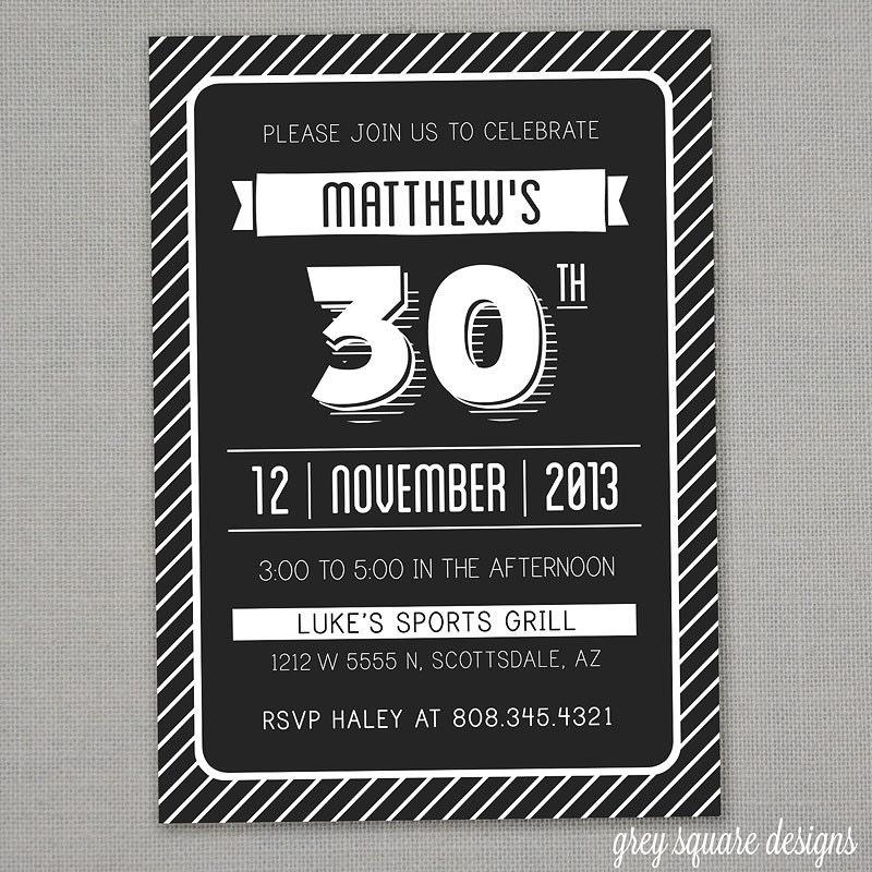 Surprise 30 Birthday Invitations for adorable invitation design
