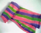 SALE Candy Stripes Hand Painted 4ply sock knitting yarn for 2 at a time socks.NOW REDUCED.