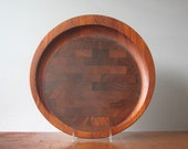 Mid Century Danish Dansk Teak Cutting Board / Serving Tray