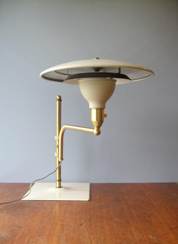 Mid Century Wheeler Sightlight Saucer Lamp