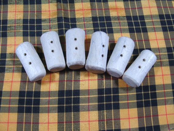 6 Rustic Driftwood Toggle Buttons