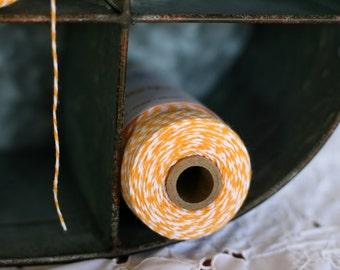 Bakers Twine Marigold bright yellow full spool 240 yards, bright yellow bakers twine, bakers twine, yellow twine, yellow craft twine