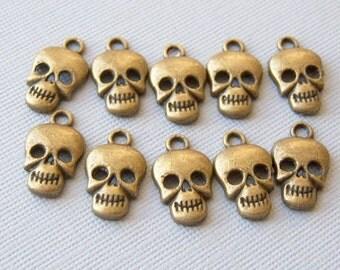 6/Vintage Skull Charms/Skull Charms/Vintage Charms/Halloween Charms/Small Charms/