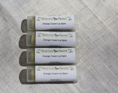 Natural Organic Orange Cream Lip Balm in New Oval Tubes