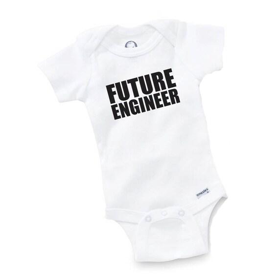Baby Gifts For Engineers : Future engineer onesie bodysuit baby shower gift funny geek