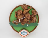 Reserved Vintage Olympia Beer Sign Men Golfing 3d