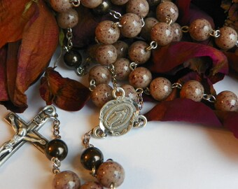 Rosaries made with your dried flowers, ashes or fabrics from a wedding, funeral, first communion, anniversary creating an keepsake