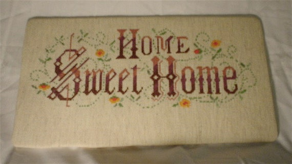 Home Sweet Home needlepoint sign 8 inches x 15 inches