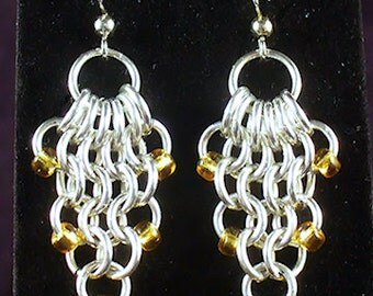 Beaded Net Earrings