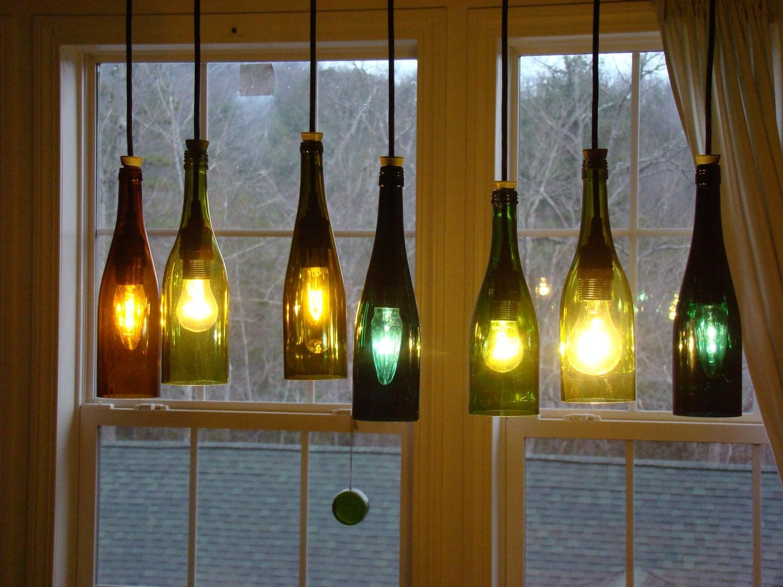 Wine bottle chandelier by glow828 on etsy - Wine bottles chandelier ...