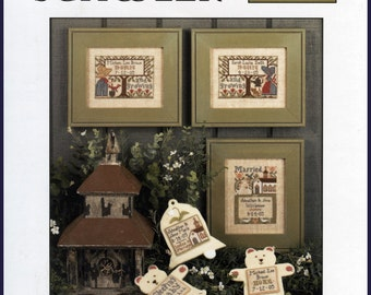 The Prairie Schooler Cross Stitch Book No. 122, Wedding & Birth Samplers IV, 2005