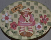 Girls stool with doll