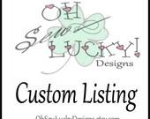 Custom Listing for C. Madrid