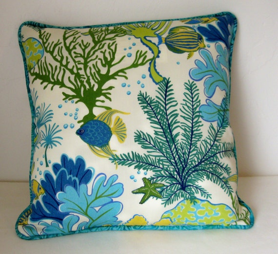 Sea Life Themed 18 Throw Pillow Cover
